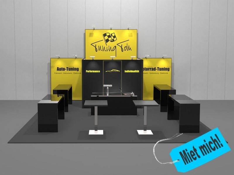 Messestand Dortmund - Kopfstand - für Standflächen ab ca. 28 m²
