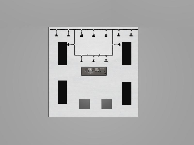 Messestand Dortmund - Kopfstand - Grundriss, System 50 by matogo mit Mietmöbel