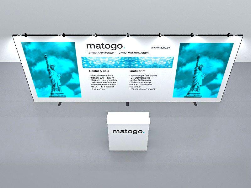 matogo Kopfstand variable Größe Ansicht von oben