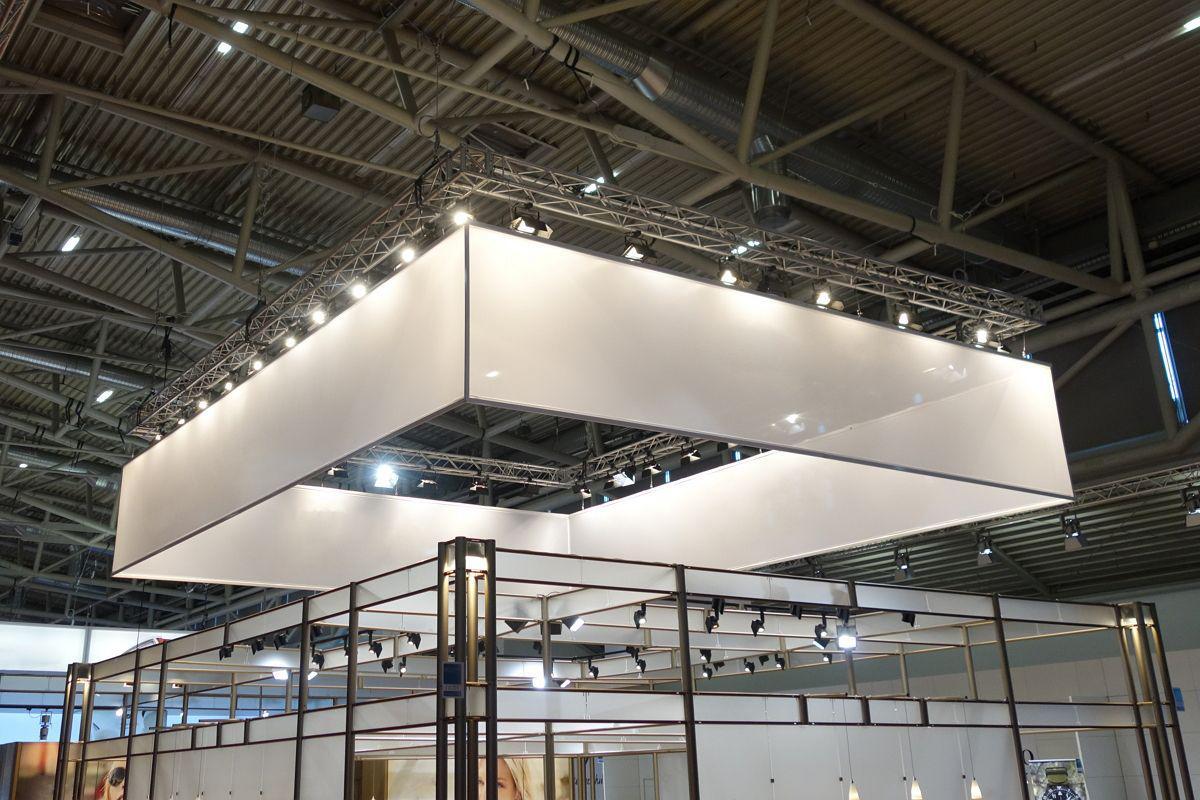 Deckenkonstruktion Rigg Beleuchtung Messebau