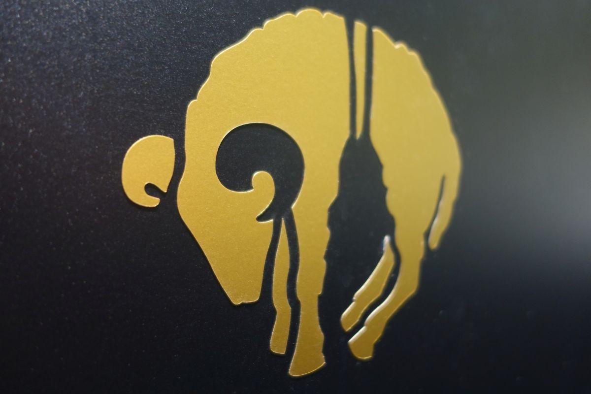Logo aus Goldfolie - matogo Messebau Specials