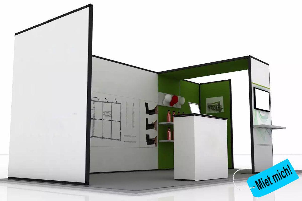 System 50 Präsentationswand von matogo mit Dachelement