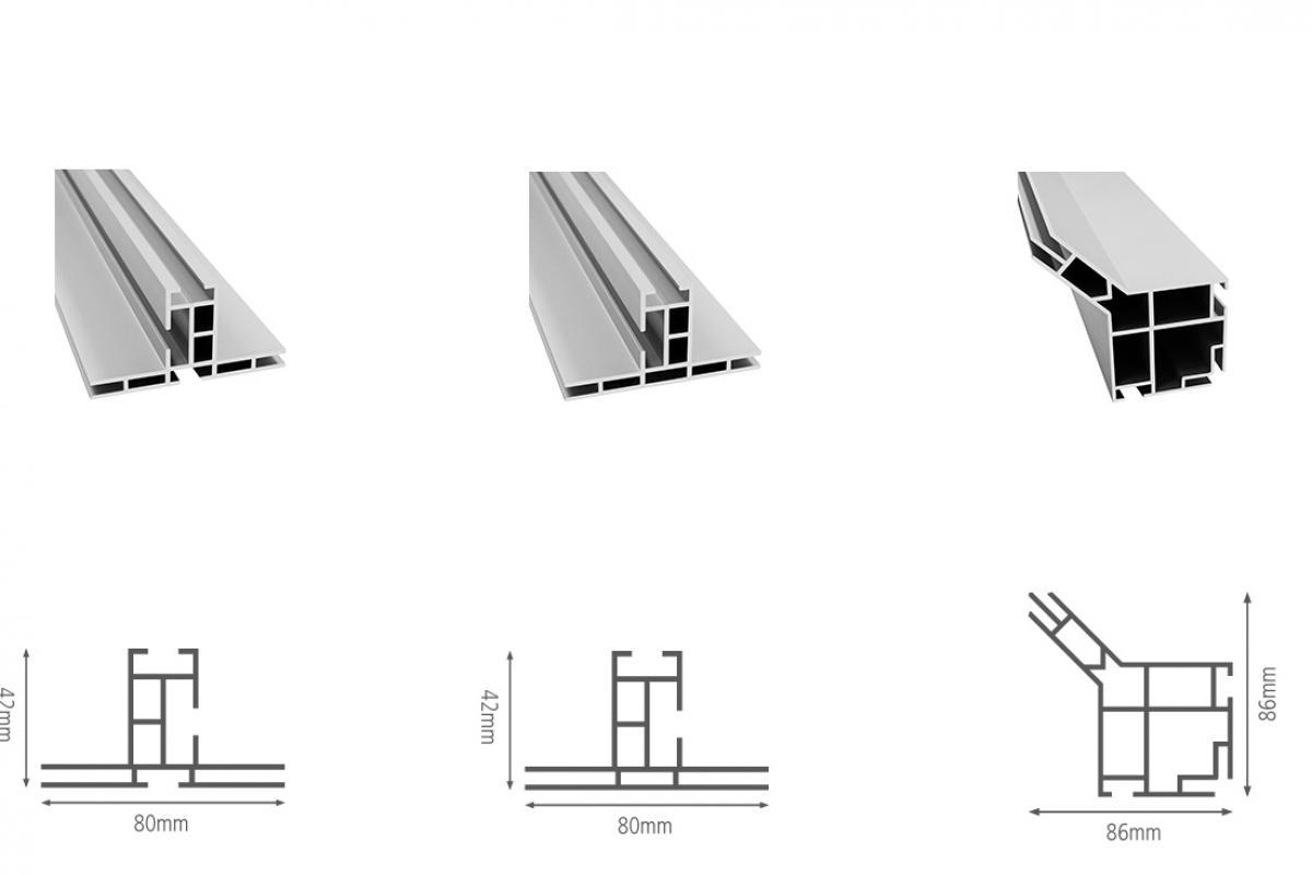Profilelemente System 80 von matogo