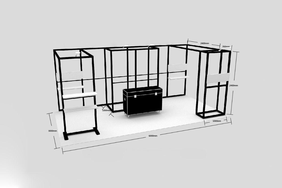 individuelle Präsentationswand aus dem System 50 von matogo