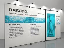 matogo Messewand mit Türe Seitenansicht links