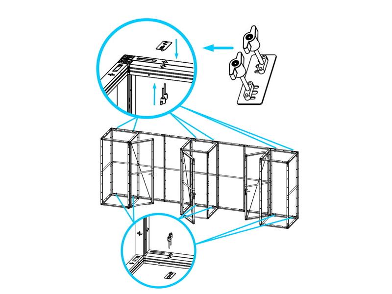 Montagebeispiel Lagerraummodul System 50