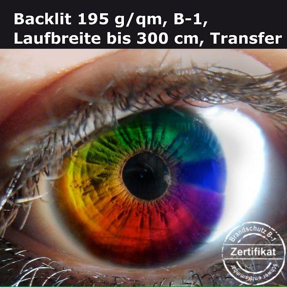 Textildruck auf Backlit-Stoff