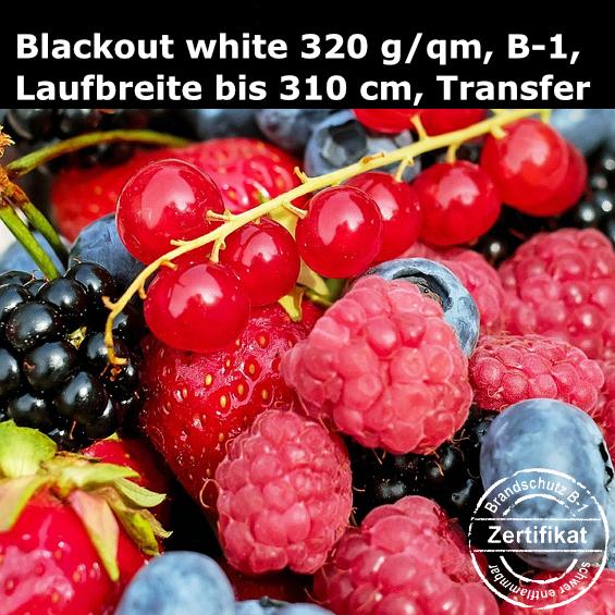 Textildruck auf Blackout-Stoff white back